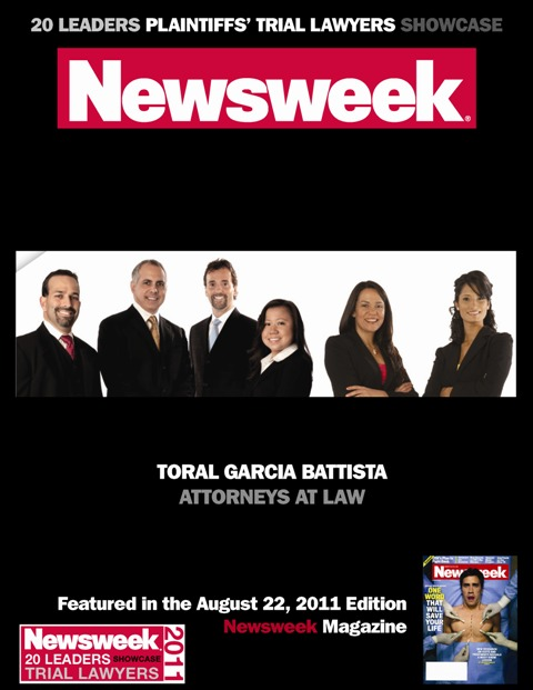 Top Personal Injury Law Leaders by Newsweek